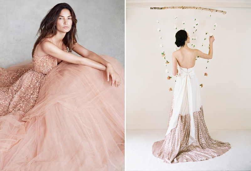 Pop of color rose gold bridestory blog for Wedding dress rental philadelphia