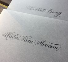 Yvette - Calligraphed Envelopes by Lemonpassion Calligraphy