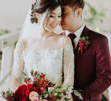 Mack and Joyce Bohemian Luxe Wedding at The Fullerton Bay Hotel by Anseina Brides