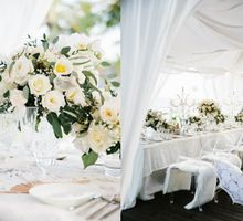 White Wedding by The Beach by Flying Bride