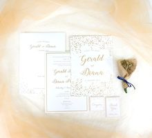 Gerald & Diana Confetti Foil Invitation by Mille Paperie