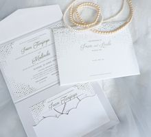 Pearls Wedding Invitation by Mille Paperie