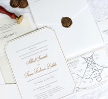 CLASSIC MINIMALIST WITH WAX SEAL by Mille Paperie