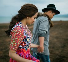 Nature Greens and Country Style Engagement Session by NQ Modern Photography