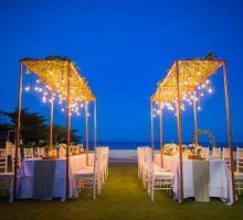 Beach wedding ceremony & Intimate dinner by Birdcage Works