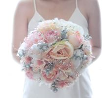 Shabby Chic Pink and Silver by Cup Of Love Design Studio
