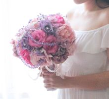 Blishful Pink and Purple by Cup Of Love Design Studio