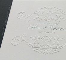 Maed & Christine by Vinas Invitation