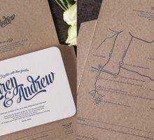 Lauren & Andrew aerogramme invitation by Paper Elephant