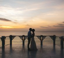 Romantic Oceanview Wedding of Erin & Dean in Bali by fire, wood & earth