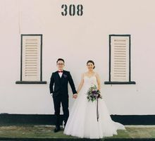 Wedding dress with straps by Kelly's Bridals