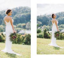 Hand beaded wedding dress with V neckline by Makeup Maestro Weddings