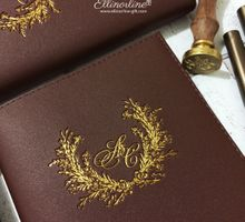 Leather Monogram Notebook for Audwin & Clarissa by Pemberley Paperie