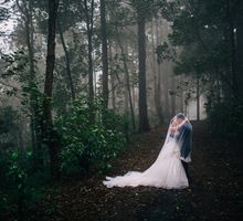 Otherworldly Elegant Prewedding in Kintamani Bali by fire, wood & earth