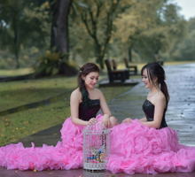 Style shoot with Wendy & Selena  by Zinny Theint Make-up Artistry