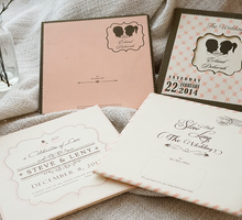Dust Pink Frame Design by Memoir card