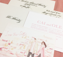 O&C ••• Calligraphed Envelopes by Lemonpassion Calligraphy