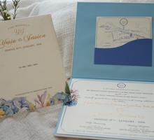 Blue Sky Booklet Design by Memoir card
