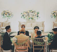 Wedding decoration and detail by DoubleTree by Hilton Jakarta - Diponegoro