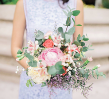 Rustic Peony Prewedding Bouquet by Peach Frost Studio