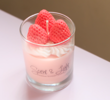 Strawberry Cream Candle by Scent and Light