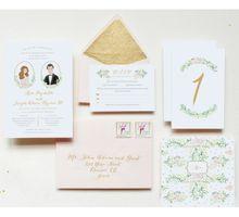 Custom Wedding Invitation Keri & Joseph by Belle Pivoine