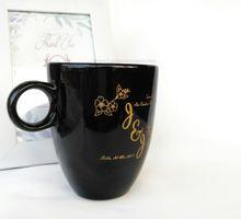 Souvenir Gelas Mug Keramik Hitam Unik Lucu Mewah by LamgoSouvenir