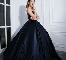 Laura's Beauty Shot - Navy Gown by Alethea Sposa