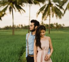 Engagement Rice Field Bali by Maxtu Photography