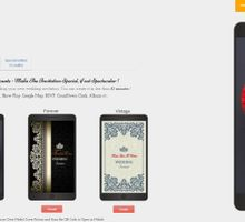A Mobile Wedding Invitation Webiste by GraceWood.co