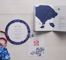 Red and Blue Chinoiserie by The Paper & Ink