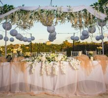 White & Gold Simple Elegant Decoration by Birdcage Works