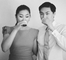 Chinese Tea Ceremony & Wedding in the Lavender Gardens of San Ysidro Ranch by Jen Huang Photo