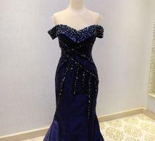 Luxury Dark Blue Gown by Peivy