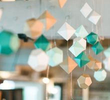 Modern Geometric - Wedding at Tin Hill Social by Amperian