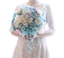 Winter Blue Hand Bouquet by Cup Of Love Design Studio