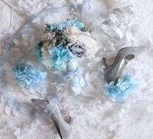 Dreamy Blue and White by Cup Of Love Design Studio