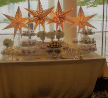 Gold and Soft White Dessert Table by Marina Bay Sands