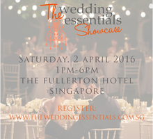 The Wedding Essentials Showcase 2016 by The Fullerton Hotel