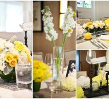 Chic Yellow & Grey Wedding by AROF (A ROOMFUL OF FLOWERS)