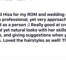 Few reviews from client by Cocoon makeup and hair