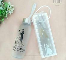 Souvenir Pernikahan Tumbler Botol Minum Kaca Unik by LamgoSouvenir