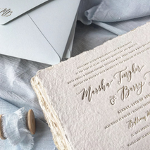 Pensée invitation & stationery