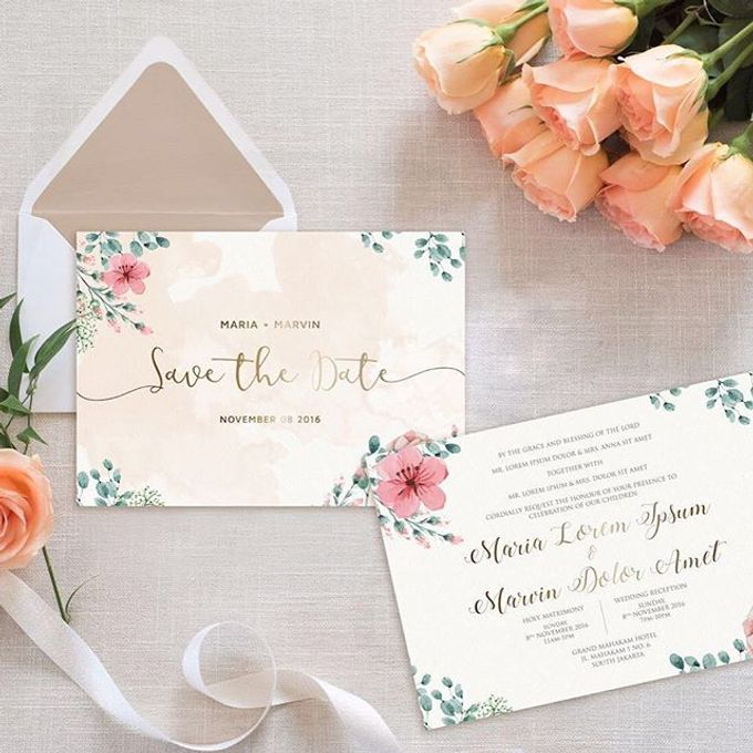 Invitation card and Souvernir Gift by Memoir card - 012