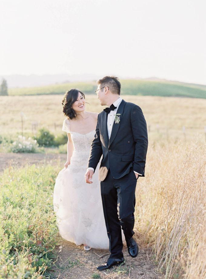 Blue & White Garden Wedding at Carneros Inn by Jen Huang Photo - 033