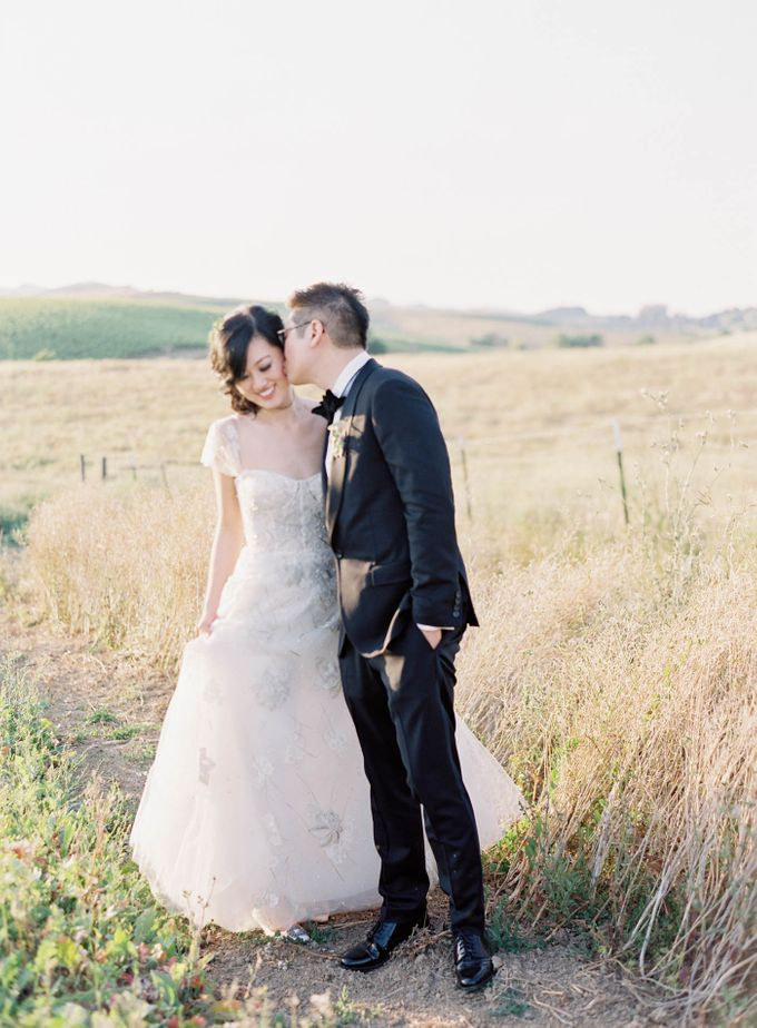 Blue & White Garden Wedding at Carneros Inn by Jen Huang Photo - 034