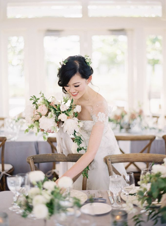 Blue & White Garden Wedding at Carneros Inn by Jen Huang Photo - 050