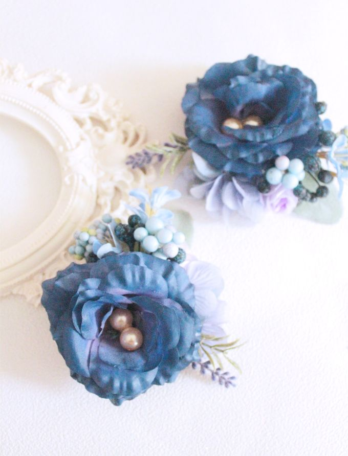Contrast Combination of Royal Blue and Pink by Cup Of Love Design Studio - 009