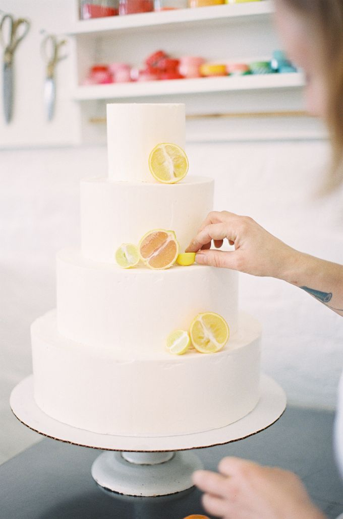 Colorful and Romantic Wedding Cake Inspiration by Jen Huang Photo - 026