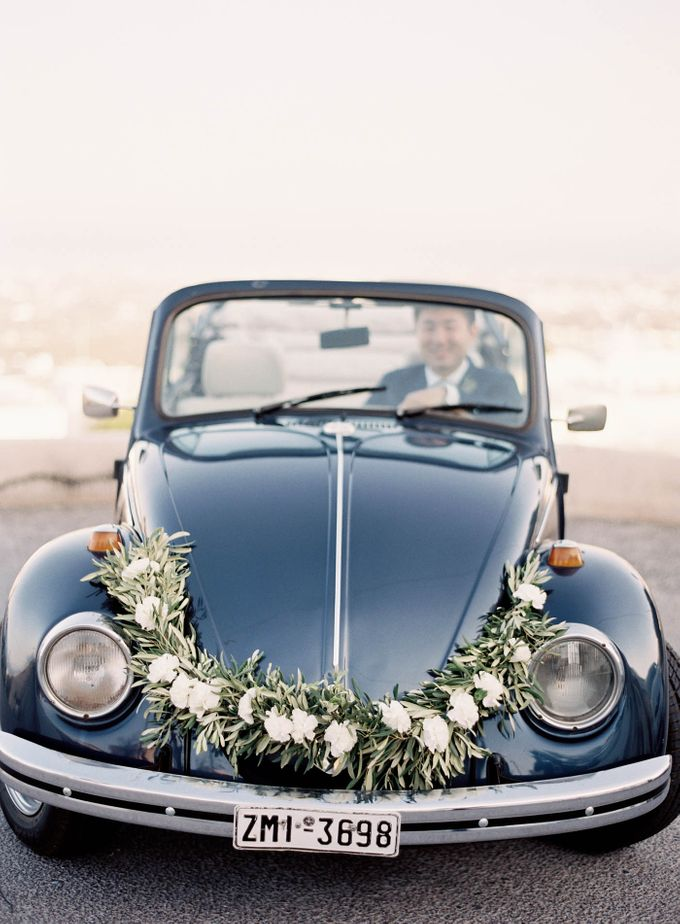 Classic and Beautiful Olive Green and Sea Blue Wedding in Santorini, Greece by Jen Huang Photo - 035